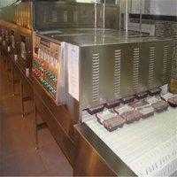 Tunnel Conveyor Microwave Lunch Box Heating Machine, Fast Food Heating Machine