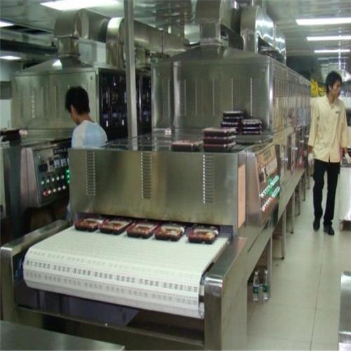 Tunnel Conveyor Microwave Lunch Box Heating Machine, Fast Food Heating Machine