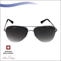 SWISS MILITARY Nickle Silver Frame with Green Gradient Lens SUNGLASS