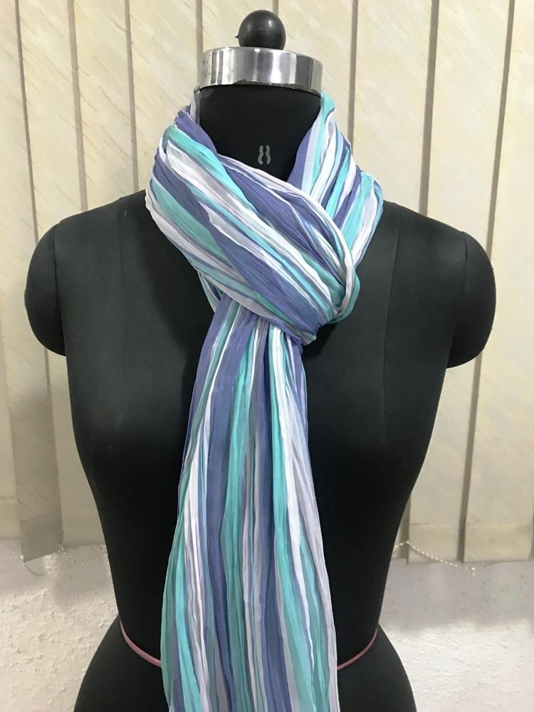 Pleated scarves