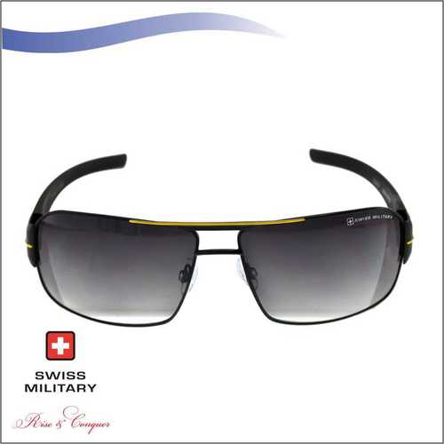 SWISS MILITARY Matt Black Frame with Smoke Gradient Lens SUNGLASS