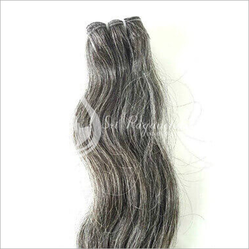 Natural Grey Wavy Hair Bundles