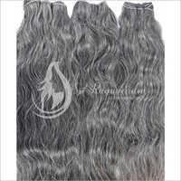 Natural Grey Deep Wavy Hair Bundles