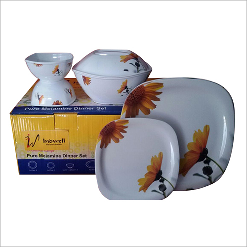 Melamine Square Plates And Bowl Dinner Set