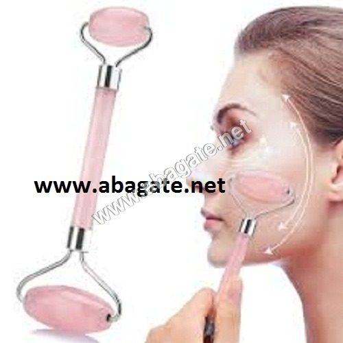 Rose quartz roller massager