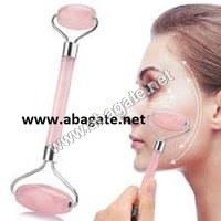 Rose quartz roller massager