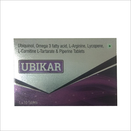 Ubiquinol Omega 3 Fatty Acid L Arginine Lycopene L Carnitine L Tartarate And Piperine Tablet