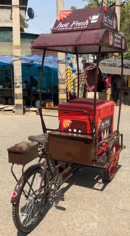 Plastic Box Ice Cream Trolley