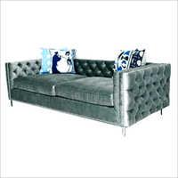 Gray Velvet Modern Sofa