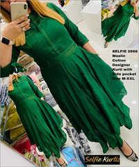 Maslin Cotton Designer Kurti