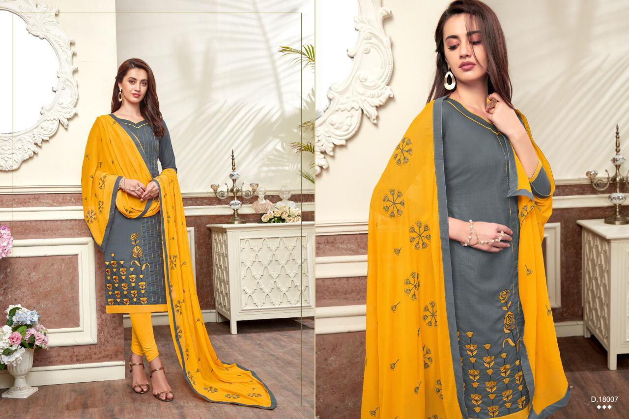 Cotton slub salwar suits