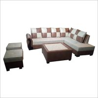 Fully Cushined Leather Corner L Shape Sofa set