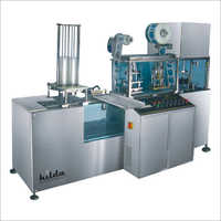 Linear 2 Head Cup Rinsing Filling And Sealing Machine