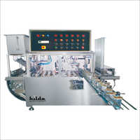 Automatic Linear 6 Head Cup Rinsing Filling And Sealing Machine
