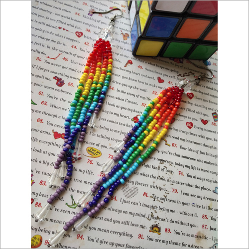 Rainbow Beads Earring