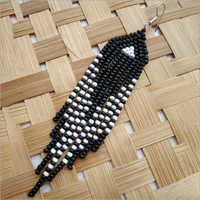 Black And White Beads Earring