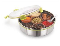 Steel Lock Stainless Steel Spice Container/ Masala Dabba