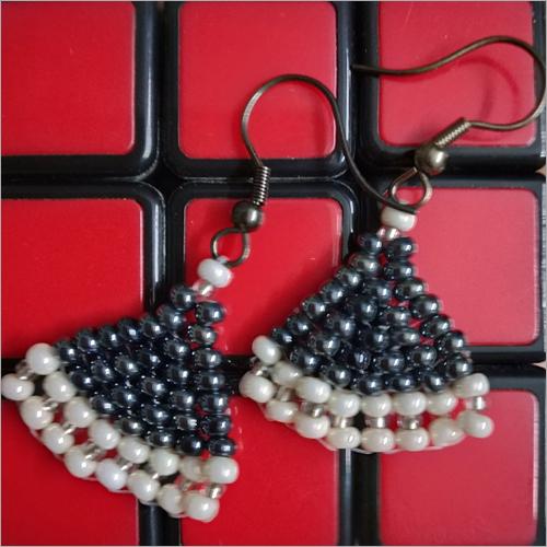 Mini Triangle Bead Earring