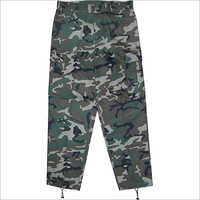 Mens Camouflage Print Trouser