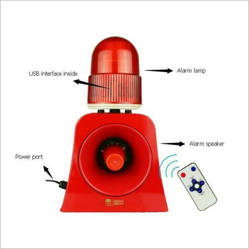 Overhead Crane Audio Visual Alarm With Remote
