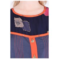 Blue Printed Designer Kurti in Rayon - Summer Wear Kurti