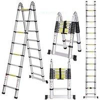 Double telescopic telescopic ladder 2.5+2.5