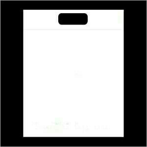 Non Woven White D Cut Bags