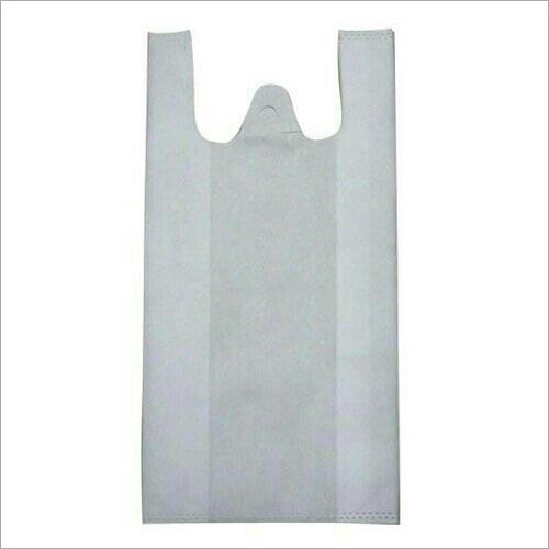 Non Woven White W Cut Bags