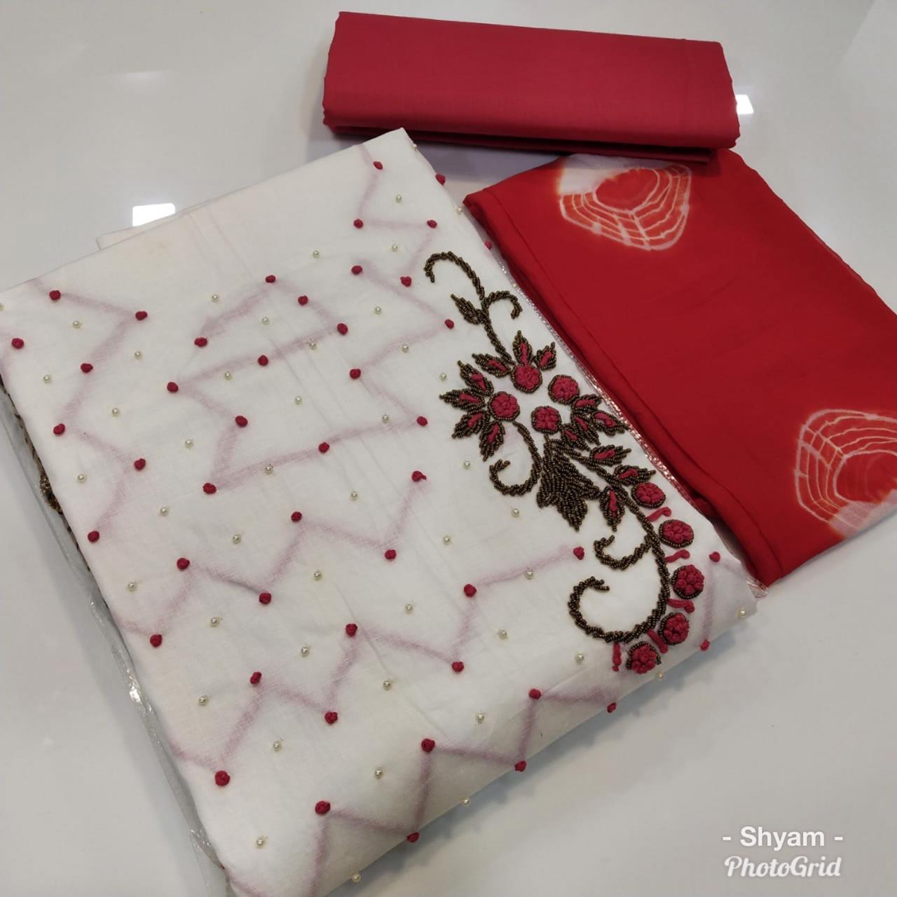 cotton satin dress material