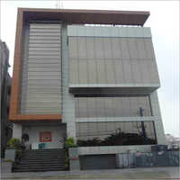 ACP Cladding WIth Glass Glazing