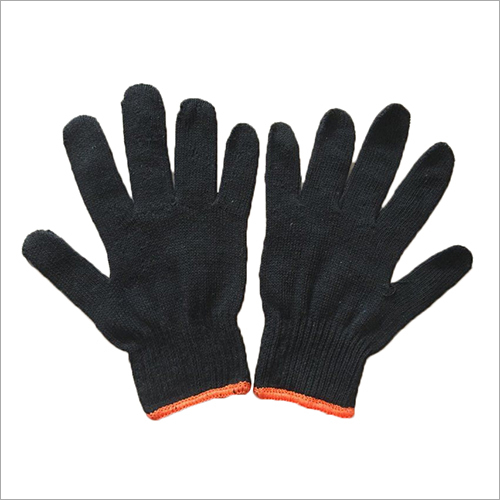 10 Gauge Blue Cotton Knitted Gloves