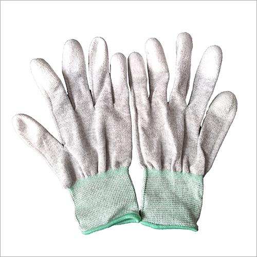 13 Gauge Carbon Fiber PU Finger Coated ESD Gloves