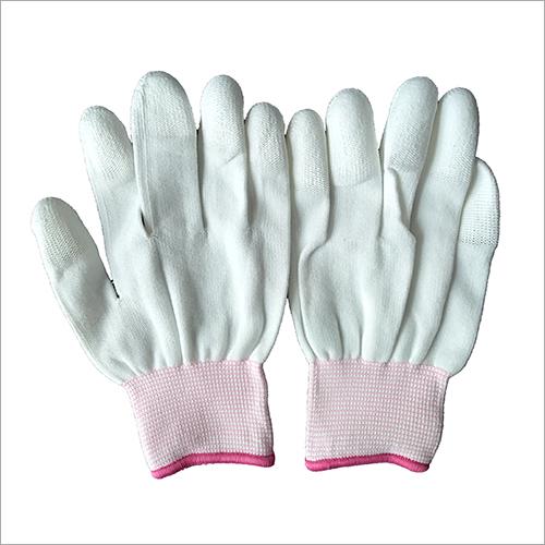 13 Gauge Polyester PU Finger Coated Gloves