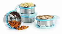 Stainless Steel Airtight & Leak Proof Containers Set of 4