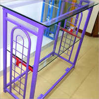 Glass And Grid Display Counter