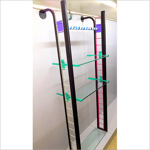 Steel And Glass Partition Display Rack
