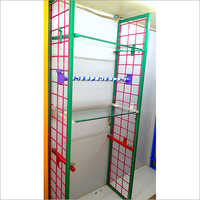 Grid Partition Garment Display Rack