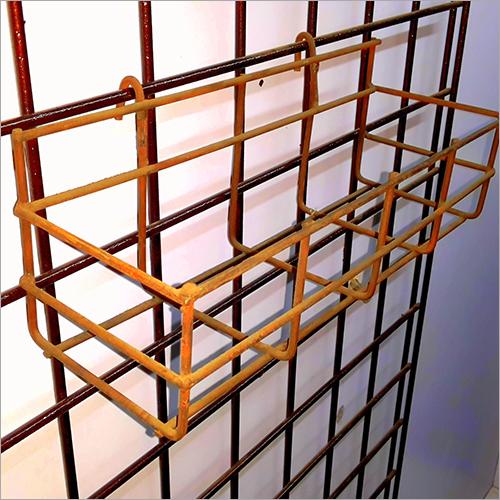 Metal Wire Bottle Display Stand Supermarket Basket