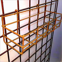 Metal Wire Bottle Display Stand Supermarket Basket