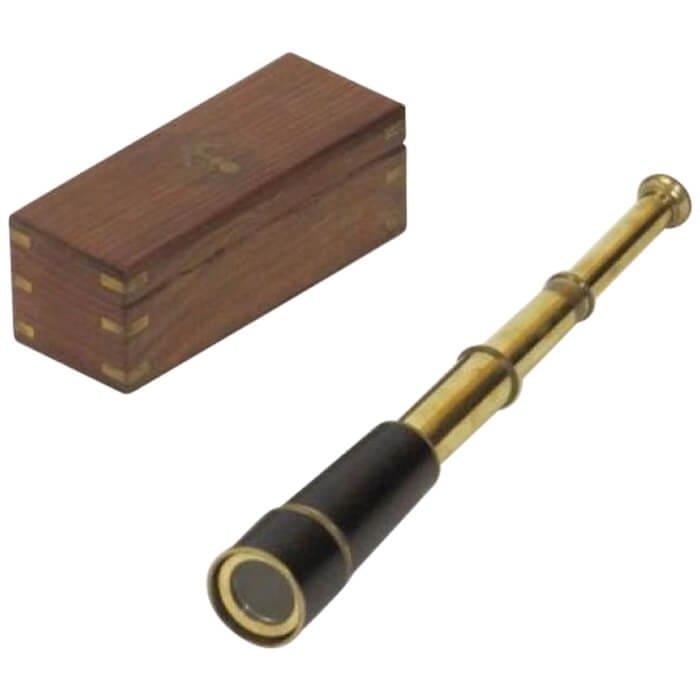 Pullout Retractable Pirate Telescope Brass