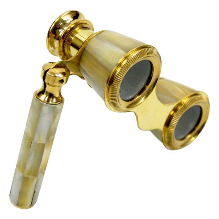 Brass Opera Binoculars Mother of Pearl