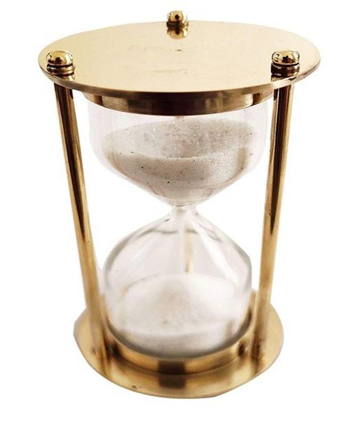 Brass Timer White Sand 1 Min.