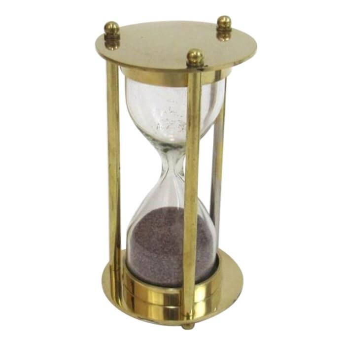 Brass Sand Timer Burgandy Sand
