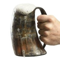 DRINKING Thrones ~Stark Sigil Wolf Viking-Drinking Horn Mug Cup~ Beer Wine Gift