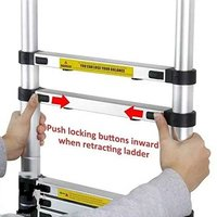 Single Telescopic Ladder Unlocking Mechanism
