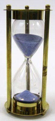 Brass  3-min. Hourglass Purple Sand