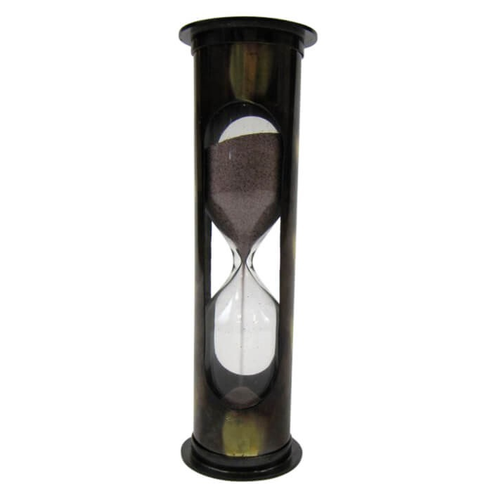 Antique Brass 5-min. Timer Purple Sand