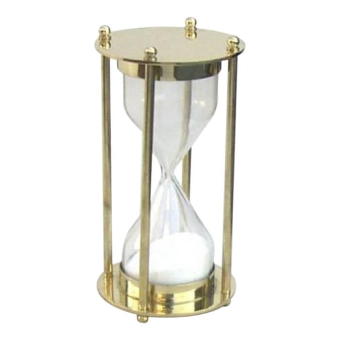 Brass Hourglass Sand Timer 5 minute