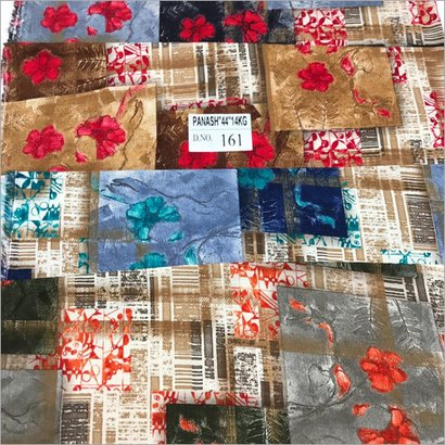 Flock Printed Cotton Fabric Dyed