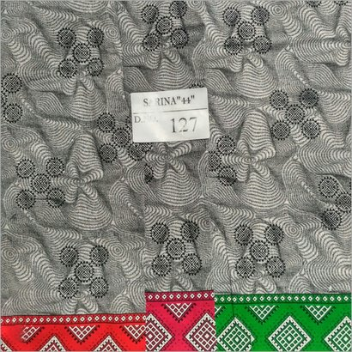 Black Silk Cotton Designer Printed Fabirc